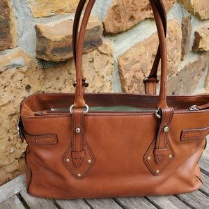 Cole Haan Trinity F04 Satchel Whiskey Leather